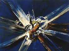 MANUEL VIOLA (Zaragoza, 1916 - San Lorenzo de El Escorial, Madrid, 1987) Explosion brutal. 1970. Mixed technique on canvas