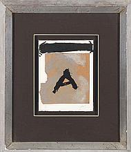 ANTONI TÁPIES (Barcelona, 1923 - 2012) Untitled. Etching and carborundum