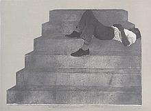 RAFAEL CANOGAR (Toledo,1935) Estudio para un monumento. Lithograph