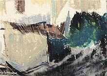 CIRILO MARTINEZ NOVILLO (Madrid, 1921 - 2008) Paisaje. Felicitación de navidad. Wax on pasteboard