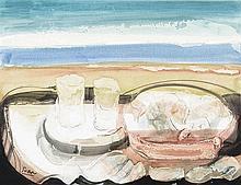 ANTONIO SUAREZ (Gijón, 1923-Madrid, 2013) Still Life. Mixed technique on paper