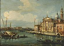 VENETIAN SCHOOL, 18TH CENTURY San Giorgio Maggiore. Oil on canvas