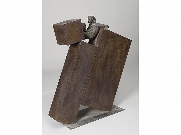 AMANCIO (Villahibiera de Rueda, León, 1965) Untitled. An iron and bronze sculpture