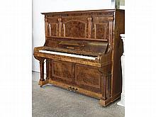 A GERMAN 'KALLMAN' WALNUT, IVORY AND EBONY KEYS PIANO