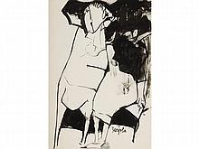 JUAN BARJOLA (Torre de Miguel Sesmero, Badajoz 1909-Madrid 1981) Woman. Ink on paper
