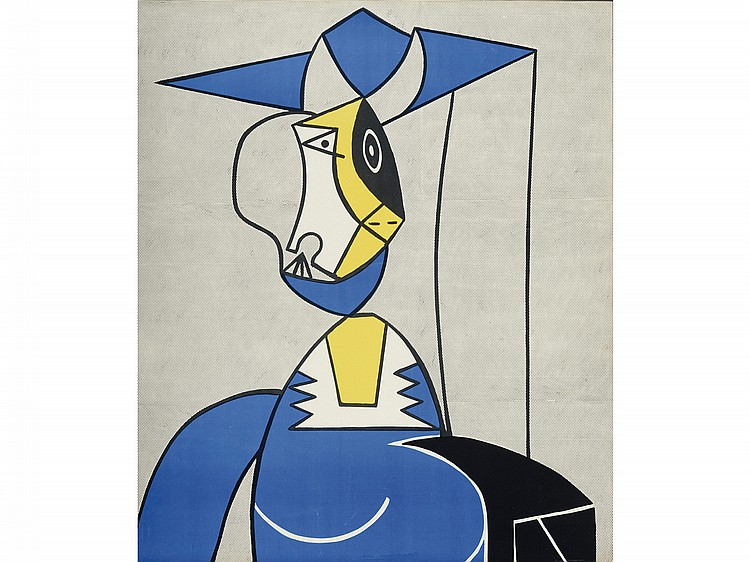 After roy lichtenstein femme au chapeau lithograph - Roy lichtenstein obras ...
