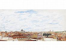 LUIS MOHEDANO (Spanish Contemporary School) View of Madrid. Oil on canvas
