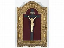 GERMAN SCHOOL A carved ivory figure of The Crucified Christ