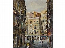 FRANCESC JULIA VENTURA (Sabadell 1900-?) Plaza San Agustin. Oil on canvas