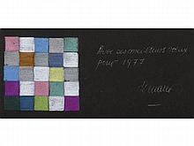 HUGO DEMARCO (1932-1995) Felicitacion de Navidad, 1977. Colored pencils