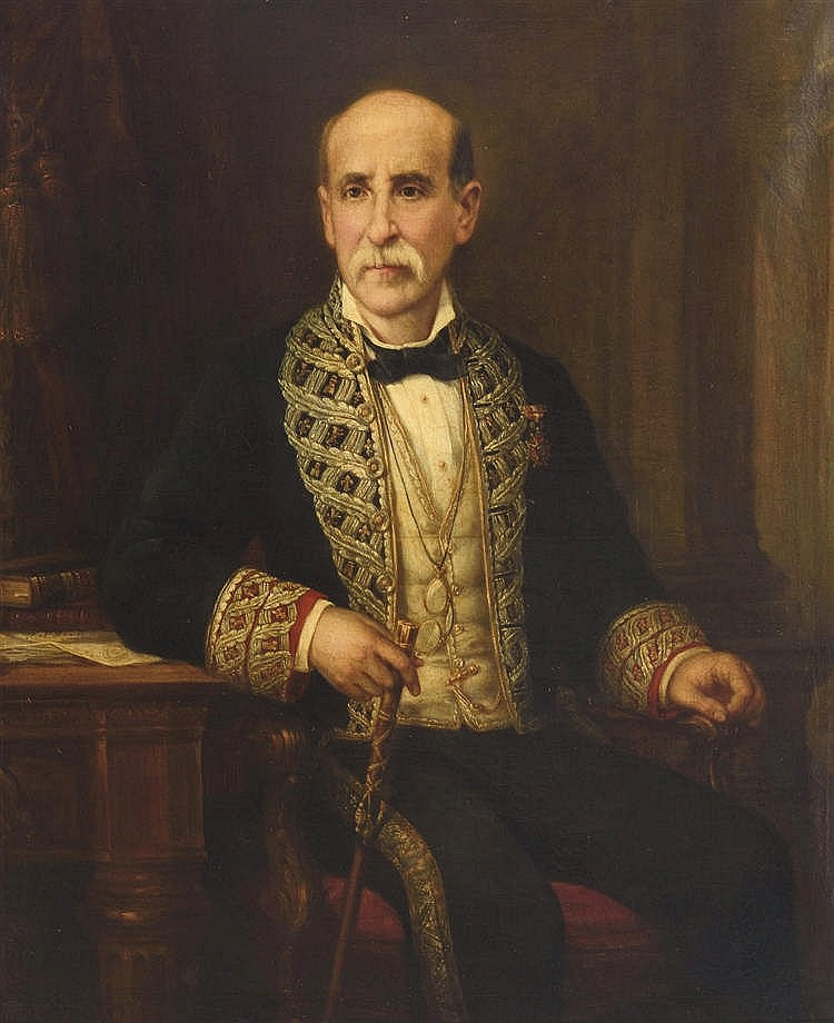 JOSE MARIA ROMERO (Seville, 1815-1880) Retrato de García de Vinuesa. Oil on canvas