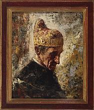 SALVADOR SANCHEZ BARBUDO (Jerez de la Frontera, 1857 - Rome, 1917) Retrato de Dogo. Oil on canvas