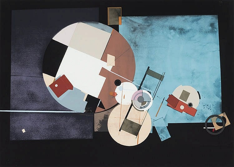 ANTONIO LORENZO CARRIÓN (Madrid 1922-2009) Untitled. Collage on lithograph