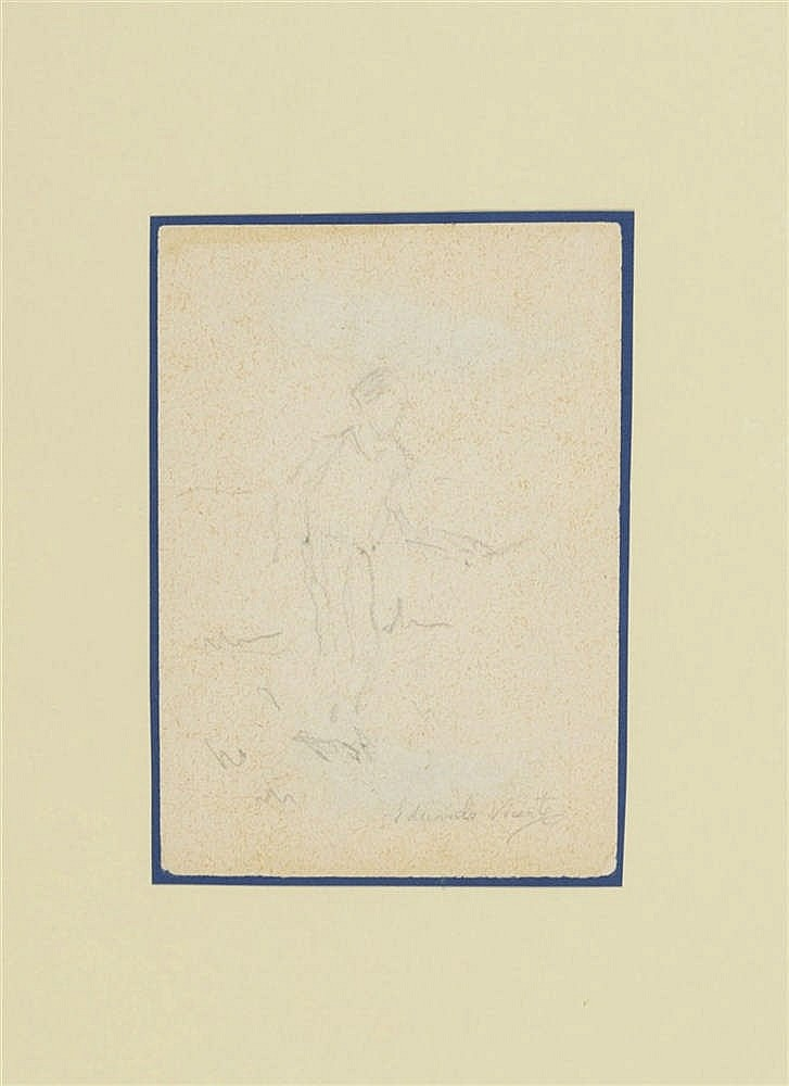 EDUARDO VICENTE (Madrid, 1909 - 1968) Niño. Pencil on paper