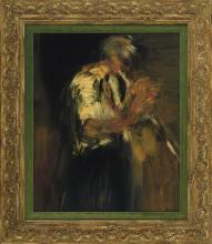 IGNACIO GARCIA ERGUIN (Bilbao, 1934) George Lewis. Clarinet Oleo sobre tabla de 73 x 60 cm. Firmado. Al dorso, firmado, titulado, fechado en 1979 e inscrito Preservation Hall, New Orleans.