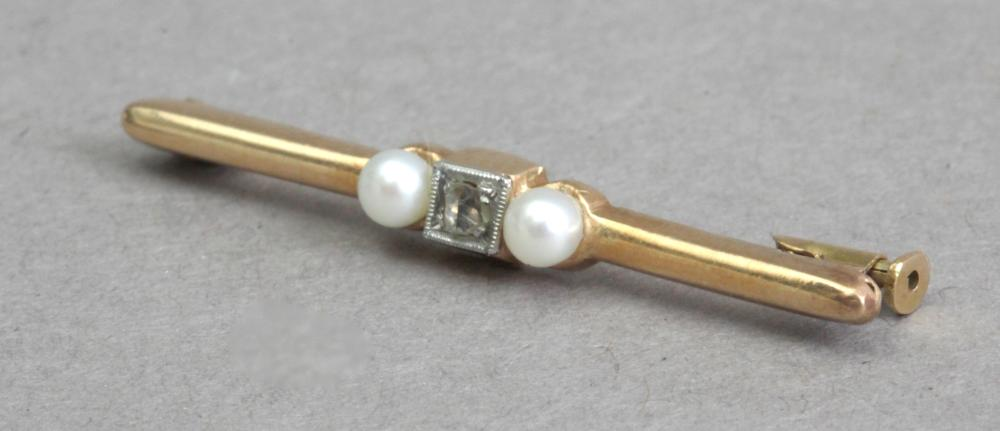 A first third of 20th century gold and diamonds tie pin