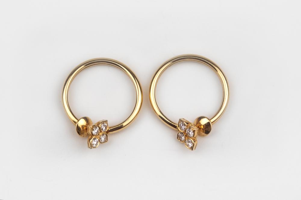 Cartier. Inde Mystérieuse Colletion. A pair of earrings circa 2000 for not pierced ears