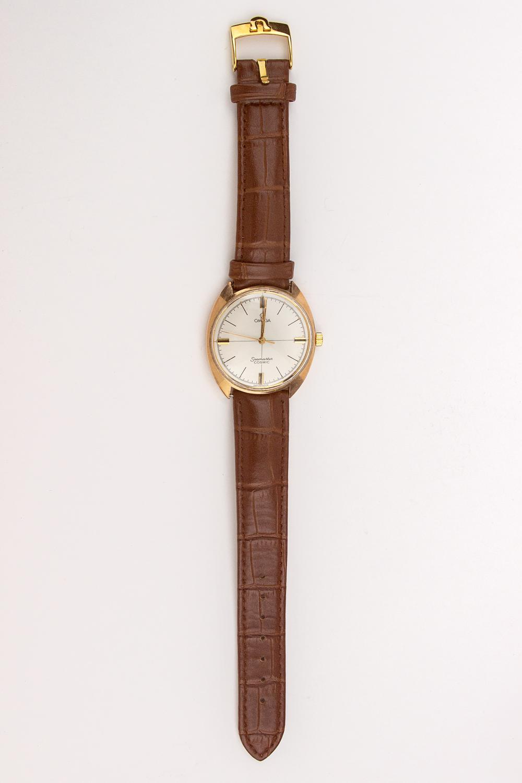 Omega Seamaster. An 18k. yellow gold men's watch