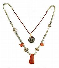 BACTRIAN CULTURE NECKLACE WITH CARNELIAN AND CERAMIC BEADS (2nd MILLENIUM BC.)