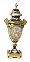 LATE 18th CENTURY- EARLY 19th CENTURY VASE IN SÉVRES PORCELAIN