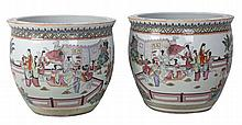 PAIR OF 20th CENTURY CHINESE REPUBLIC PERIOD CACHE POTS