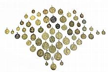 17th-18th CENTURIES COLLECTION OF 61 BRONZE DEVOTIONAL MEDALS