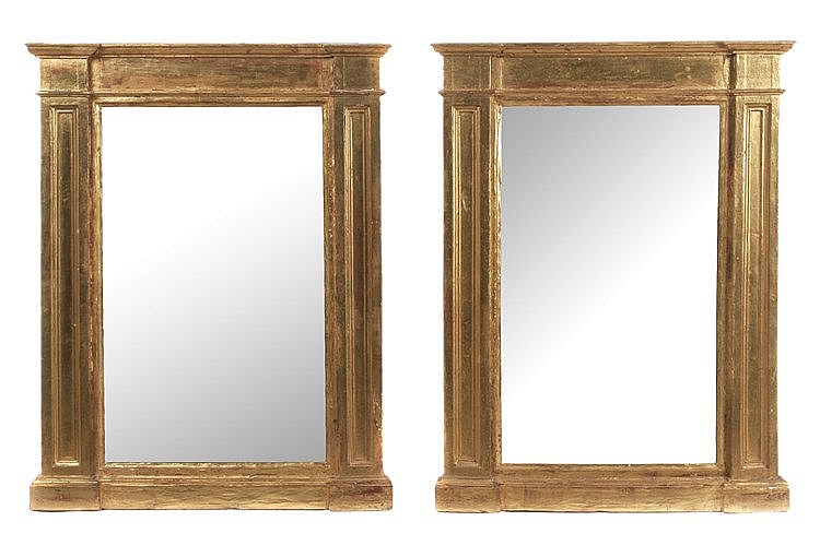 18th CENTURY FRENCH LOUIS XVI PERIOD PAIR OF MIRRORS