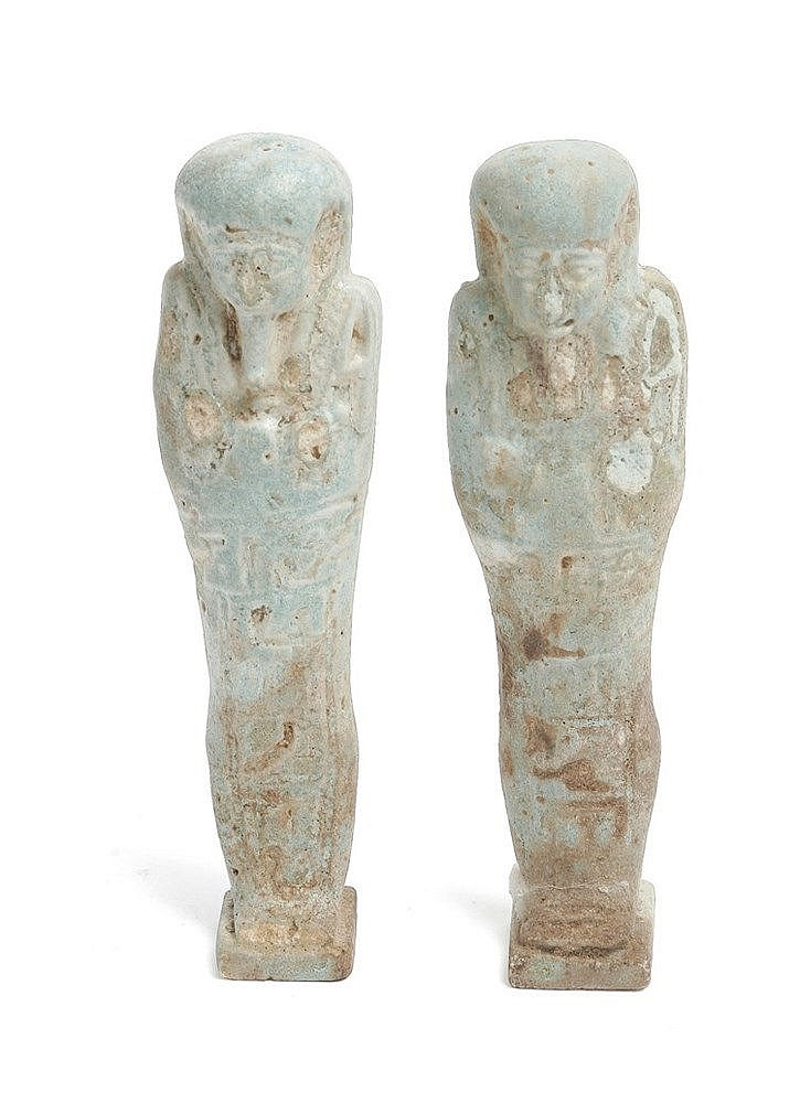 PAIR OF USHEBTIS, LATE PERIOD OF ANCIENT EGYPT (664-332 BC.)