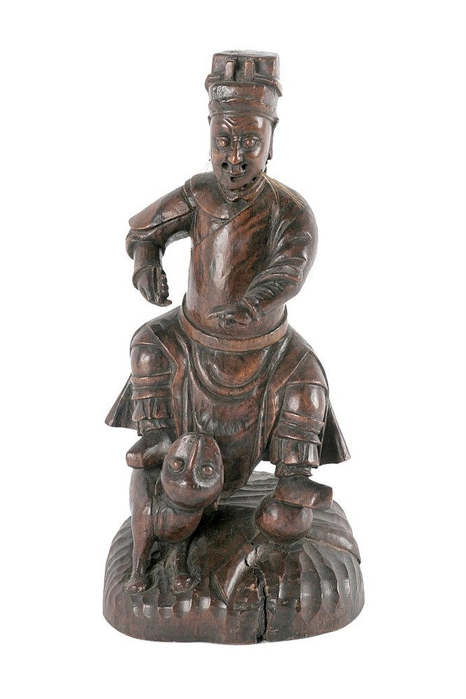 EARLY 19th CENTURY CHINESE WARRIOR FIGURINE