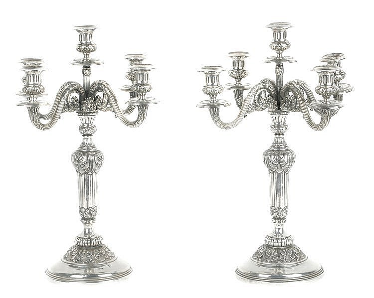 20th CENTURY PAIR OF CANDELABRA