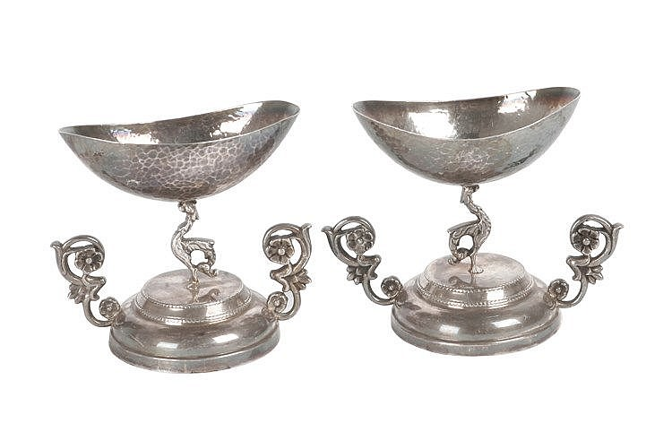 19th CENTURY FRENCH EMPIRE PERIOD PAIR OF SILVER SPICE RACKS
