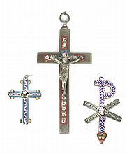 THREE 19th CENTURY ITALIAN CRUCIFIXES