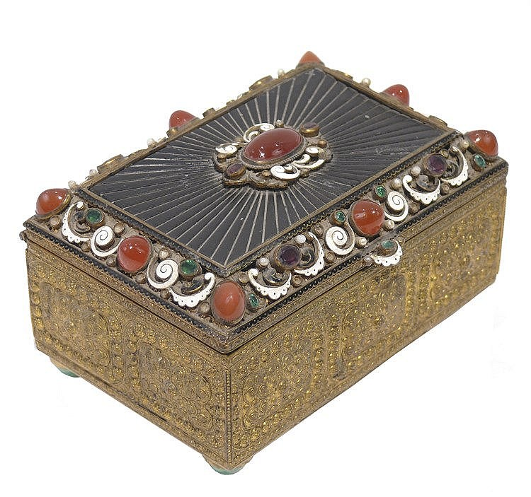 19th CENTURY AUSTRO-HUNGARIAN JEWELRY BOX