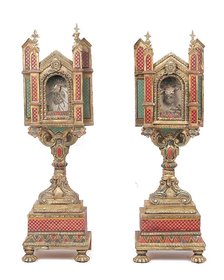PAIR OF 18th CENTURY SPANISH RELIQUARIES