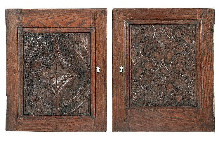 PAIR OF 16th CENTURY GOTHIC TRACERY PANELS