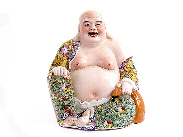 FIRST HALF OF 20th CENTURY CHINESE FIGURE OF BUDDHA