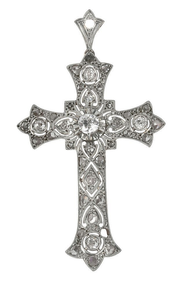 ART-DÉCO PENDANT CROSS