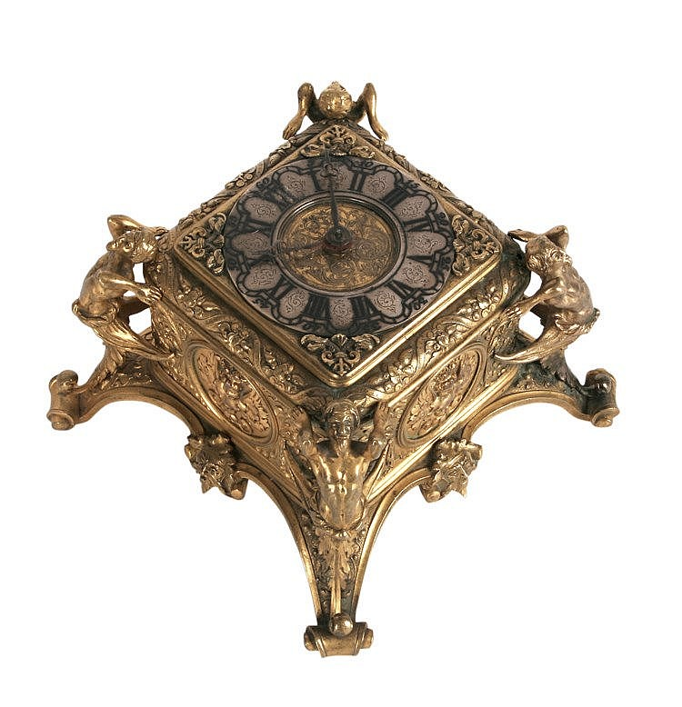 19th CENTURY GERMAN TABLE CLOCK