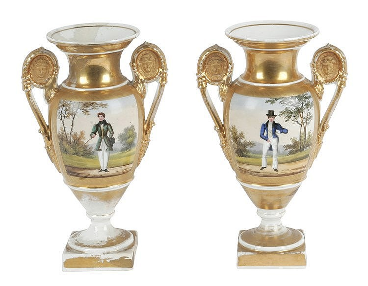 19th CENTURY PAIR OF FRENCH VASES