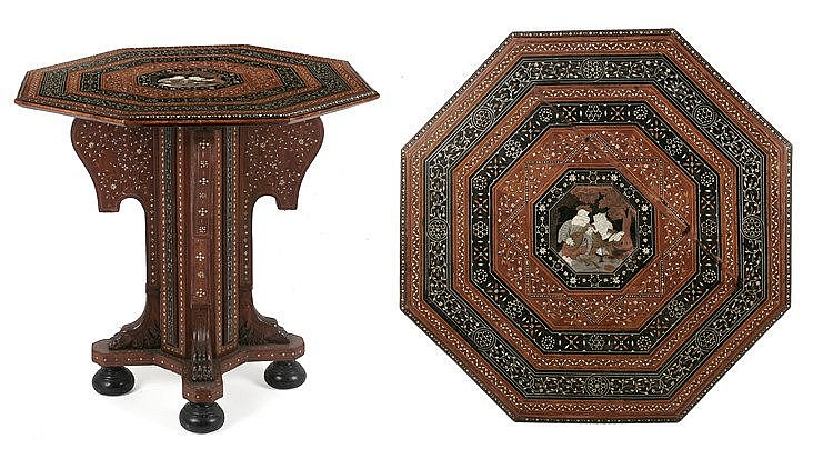 19th CENTURY TABLE FROM NORTH ITALY, PROB. MADE IN MILANO