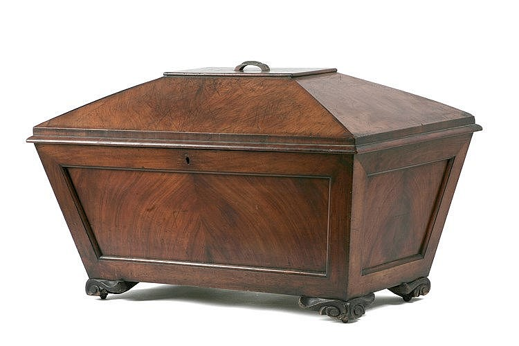 19th CENTURY NAPOLEON III PERIOD FRENCH WOODEN CAMPAIGN ICE BOX