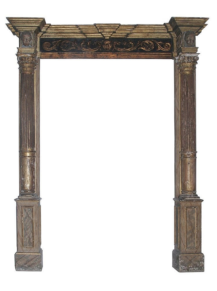 17th CENTURY ALTARPIECE FRAMEWORK