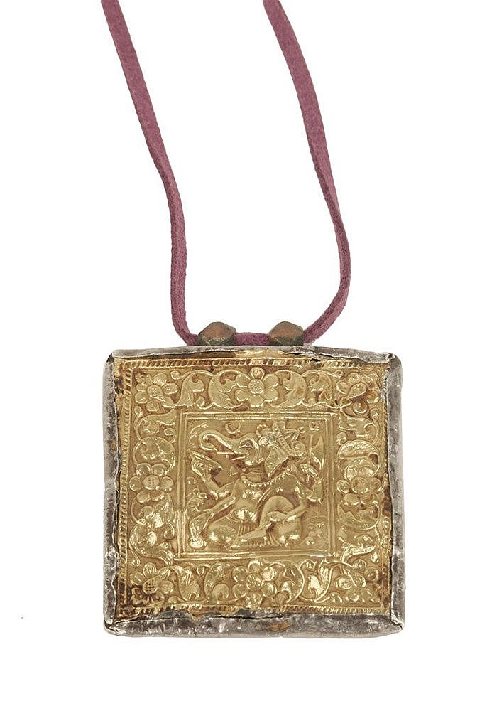 18th CENTURY HINDI AMULET-PENDANT