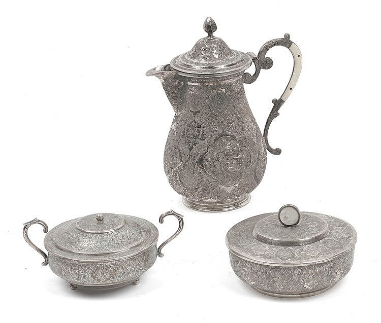 19th CENTURY ARABIAN COFFEE SET