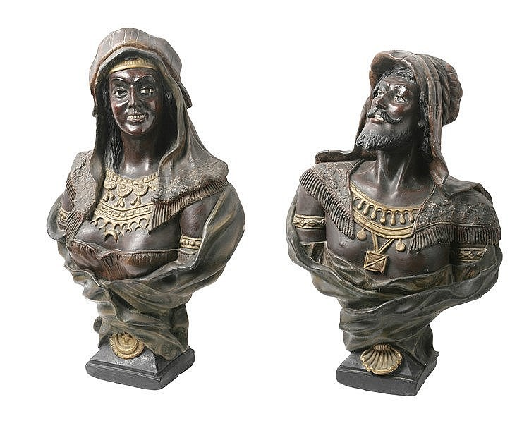 PAIR OF 19th CENTURY VENETIAN BUSTS