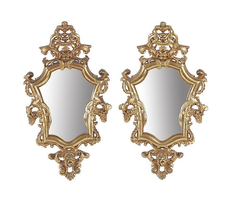 20th CENTURY PAIR OF LOUIS XV STYLE CORNUCOPIAS