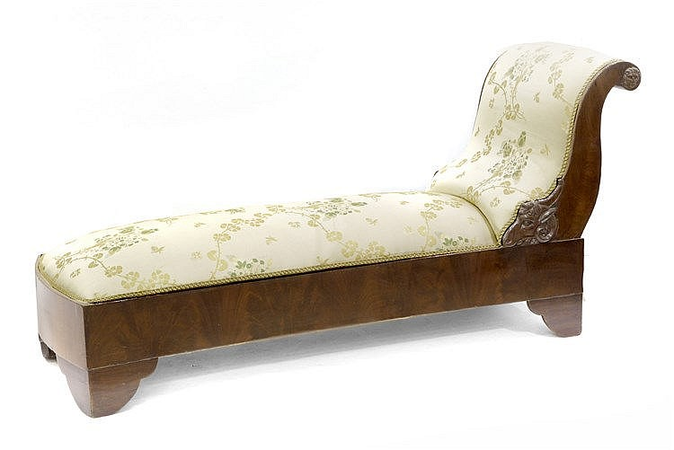 19th CENTURY FRENCH RESTORATION PERIOD CHAISE-LONGUE
