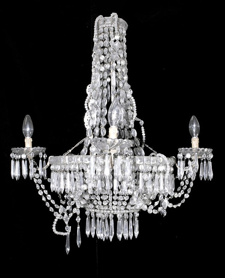 EARLY 19th CENTURY CHARLES IV PERIOD CHANDELIER