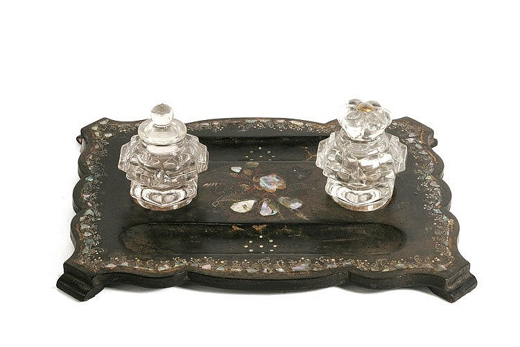 19th CENTURY NAPOLEON III PERIOD FRENCH INK STAND