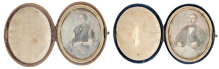 20th CENTURY PAIR OF DAGUERREOTYPES